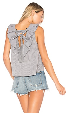 Ruffle Strappy Top With Tie Detail