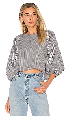 Cropped Top With Bell Sleeves