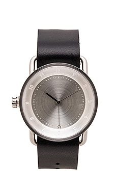 TID Watches No. 2 in Steel & Black Leather
