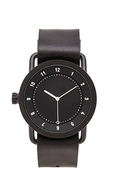 TID Watches No. 1 in Black & Black Leather