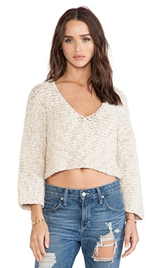 Tigerlily Maryse Crop Knit in Fawn