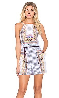 Tigerlily Dalmatia Romper in White
