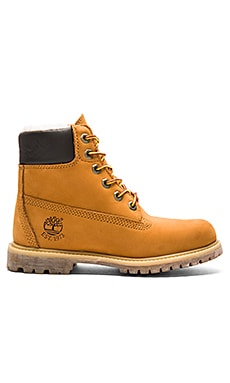 Timberland 6' Premium Boot in Wheat Nubuck