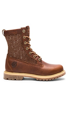 Timberland Authentics Open Weave Boot in Medium Brown & Brown Weave