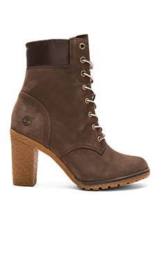 Glancy Boot en Dark Brown Nubuck