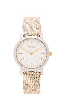 Timex Original in White & Natural Linen