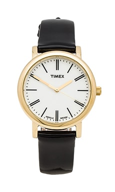 Timex Originals Classic Round Glamour Petite in Gold &  Pearl & Black