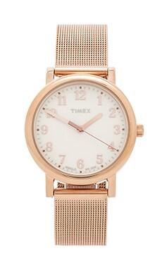 Timex Originals Classic Round 33mm in Rose Gold/ Cream