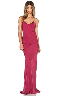TITANIA INGLIS x REVOLVE Long Plunge Dress in Merlot