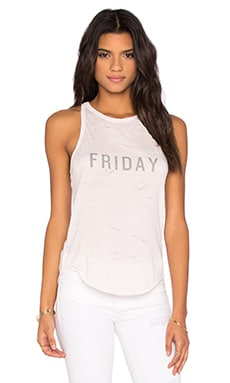 TYLER JACOBS Friday Reaction Tank in Pink Burnout
