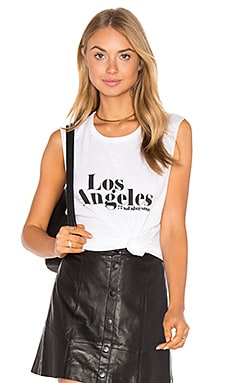Los Angeles Cut Off Tank in White