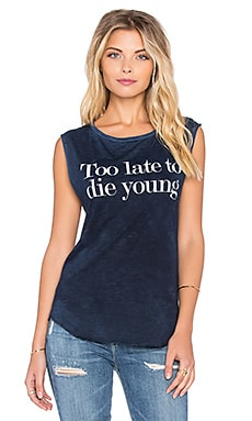 TYLER JACOBS Too Late Tank in Navy