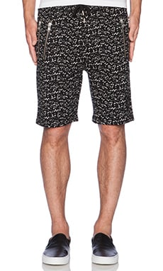 Crackled Printed Fleece Short