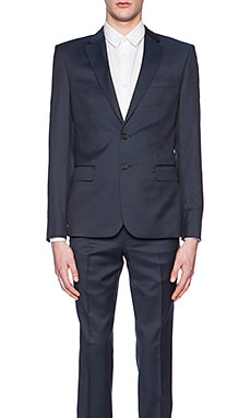 The Kooples Tone Suit Blazer in Navy