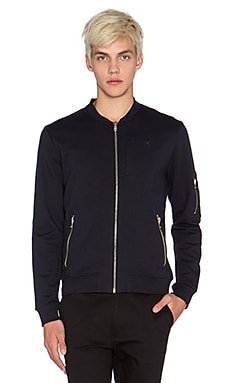 The Kooples Sport Punk Sweatshirt in Navy