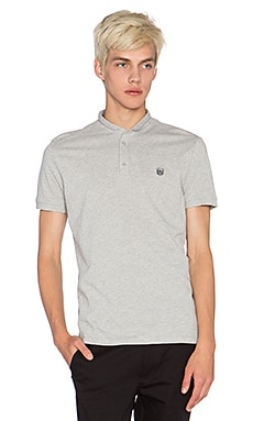 The Kooples Sport Polo Shirt with Stand Up Collar in Grey