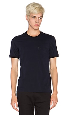 The Kooples Short Sleeved T Shirt Light Cotton in Navy Black