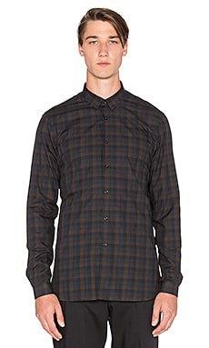 The Kooples Check Shirt Brushed Cotton in Brown