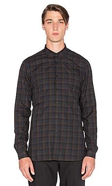 The Kooples Check Shirt Brushed Cotton en Marron