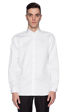 The Kooples Classic White Twill Shirt in White