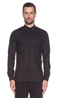The Kooples Light Popeline Shirt in Black