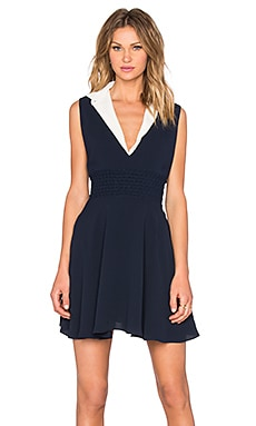 The Kooples Collared Dress in Navy