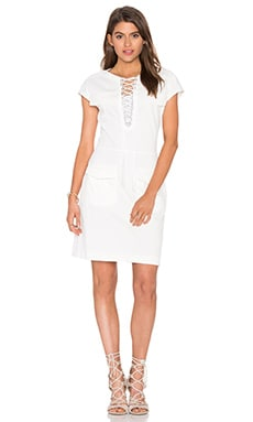 The Kooples Lace Up Front Dress in White