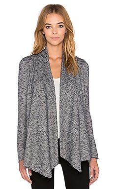 The Kooples French Terry Cardigan in Grey