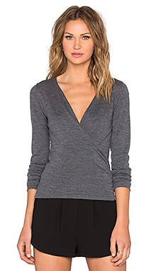 The Kooples Wrap Cardigan in Grey Melange