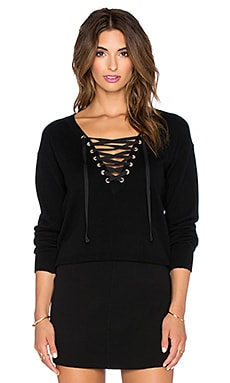 The Kooples Woman's Cashmere Sweater in Wool in Black