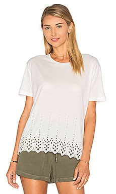 The Kooples Eyelet Hem Tee in White