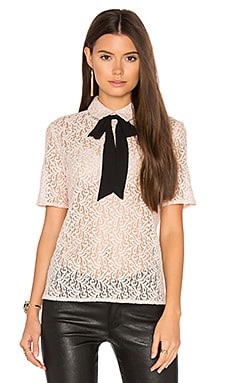 Lace Tie Neck Top