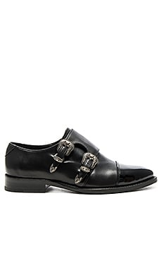The Kooples Double Buckle Loafer in Black