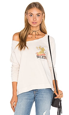 Beer Banner Sweatshirt in Sand