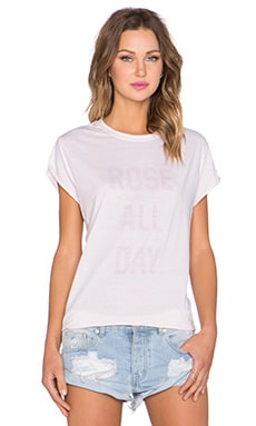 The Laundry Room Rose All Day Rolling Tee in Shell