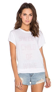 The Laundry Room Sweet Child of Wine Rolling Tee in White
