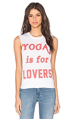 The Laundry Room Yoga is For Lovers Muscle Tee in White