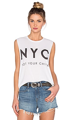 The Laundry Room Not Your Chick Muscle Tee in White