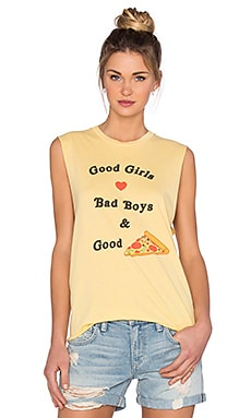 T-SHIRT SANS MANCHES GOOD PIZZA