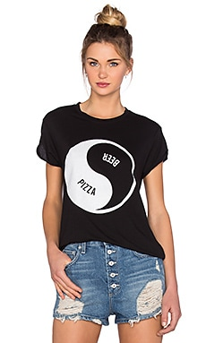 The Laundry Room Balanced Diet Rolling Tee in Black