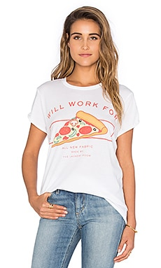 The Laundry Room Will Work For Pizza Rolling Tee in White
