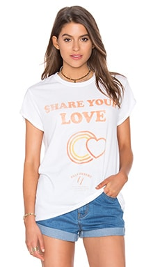 Share Your Love Poster Rolling Tee en Blanc