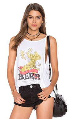 The Laundry Room Beer Banner High Neck Tank in White