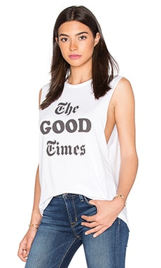 The Laundry Room The Good Times Muscle Tee in White