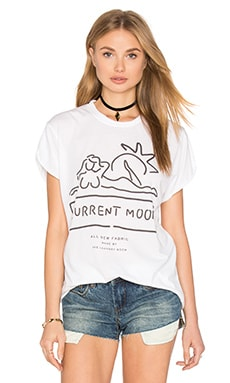The Laundry Room Current Mood Rolling Tee in White
