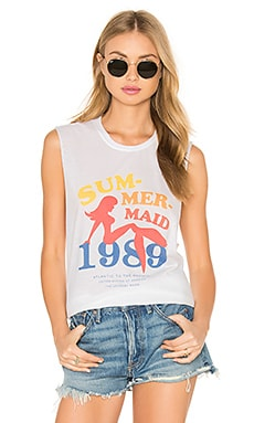 The Laundry Room Sum Mer Maid Muscle Tee in White