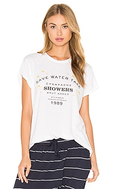 The Laundry Room Champagne Showers Rolling Tee in White