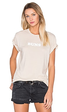 The Laundry Room Buns Rolling Tee in Nude