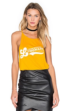 Lemonade High Neck Tank in Poppy