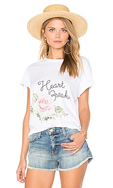 Heart Breaker Rolling Tee in White